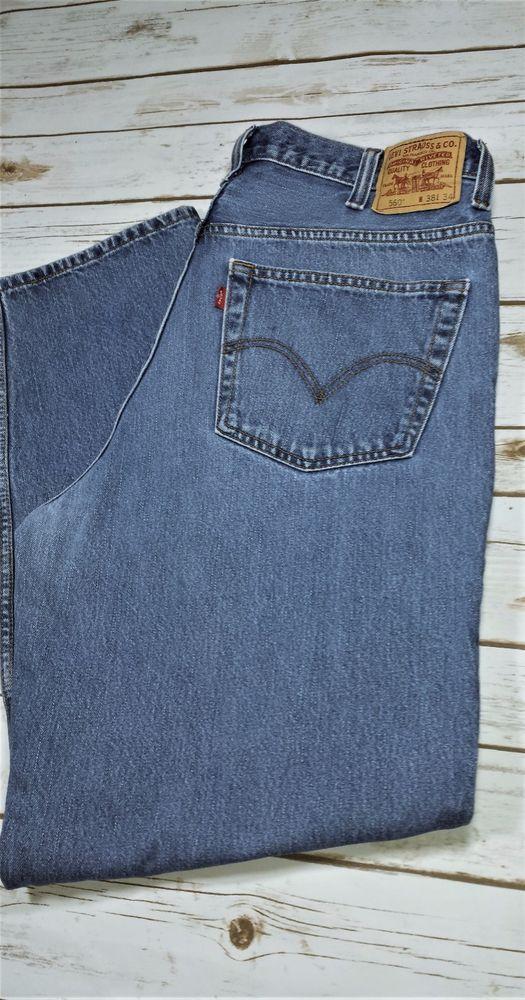 MENS LEVIS 560 COMFORT FIT Medium Stone Wash Jeans Measures 38x32.5 100% Cotton #Levis #560COMFORTFIT