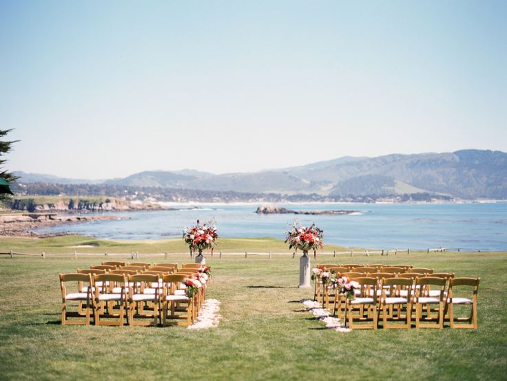 Ceremony Venue: Pebble Beach Resorts - http://www.stylemepretty.com/portfolio/18th-lawn-the-lodge-at-pebble-beach Photography: Kristin La Voie Photography - kristinlavoiephotography.com   Read More on SMP: http://www.stylemepretty.com/2016/07/29/coral-peony-bridal-bouquet/