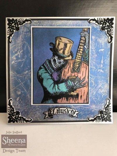 Sheena Douglass' Day of the Dead - #Crafting #Hobbies #Hochanda #stamp  #cardmaking #CraftersCompanion - www.hochanda.com/