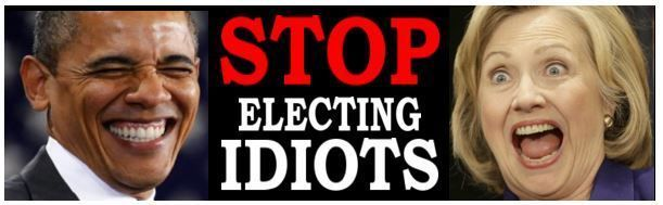 STOP Electing IDIOTS - ANTI HILLARY PRO TRUMP POLITICAL BUMPER STICKER