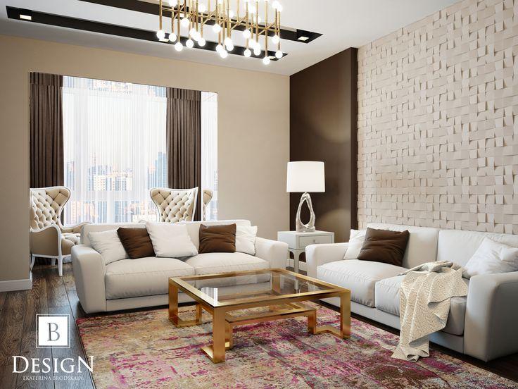 #modern #livingroom #design #interior #designinterior #lamp #brown #beige #white #wall #интерьер #дизайн #стена #бежевый #коричневый #гостиная #диван #стол #ковер #люстра #бродская #brodskaya