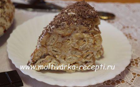 Торт из крекера и сметаны (без выпечки)