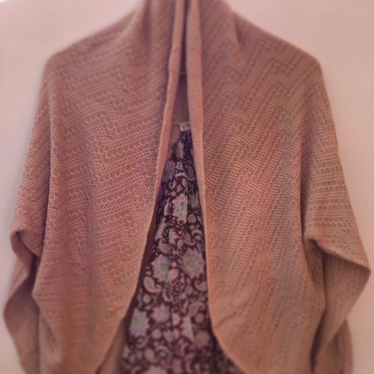 Cotton bambop shrug. Hand trimmed and hand dyed