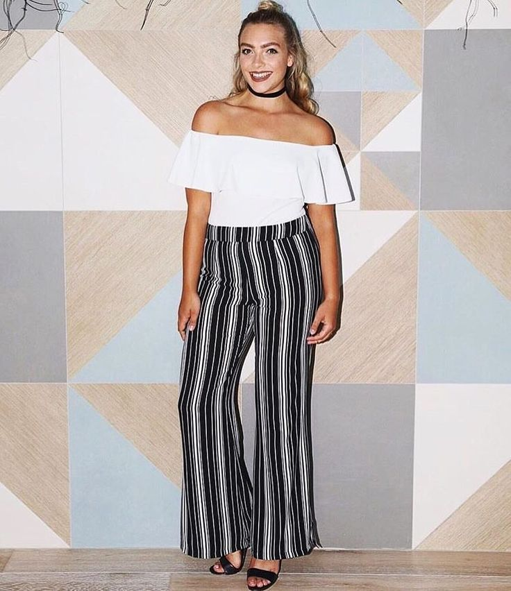 Lucy Bennett absolutely owning it in The Elle Stripe Pant