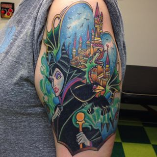 This tattoo that is truly magnificent. | 24 Disney Tattoos That Are Truly Magical