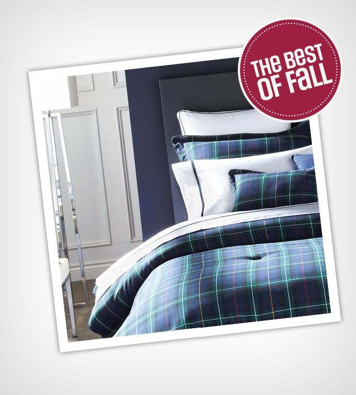 The return of plaid! Tip: try out plaid bed sheets. It's classic and contemporary design is a must in a Fall inspired home.