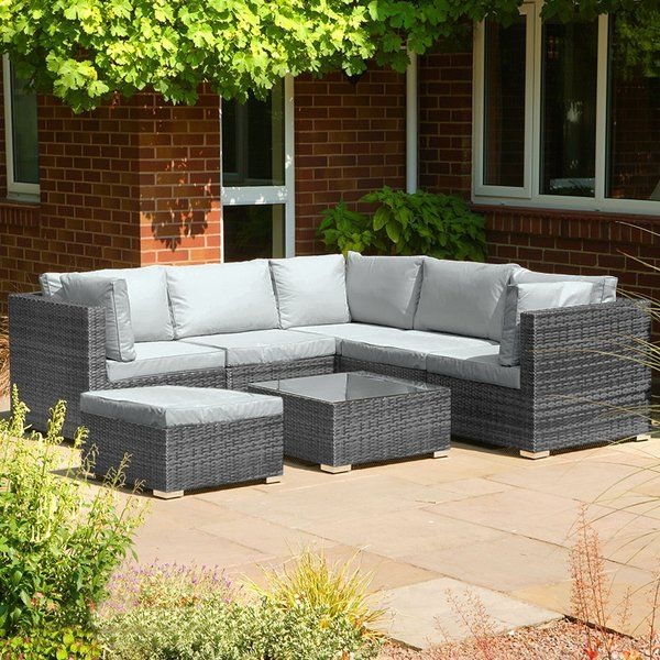 You Ll Love The Montoya 5 Seater Rattan Corner Sofa Set At Wayfair Co Uk Great Deals On All Outdoor Produc Rattan Corner Sofa Garden Sofa Set Corner Sofa Set