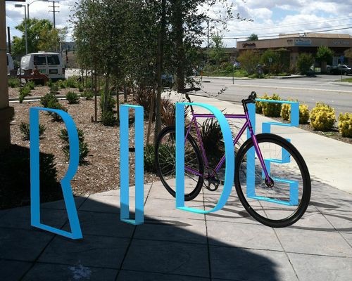 """You could do this, but spell out """"ZBC"""" for the brewery. ARBR Studio RIDE bike rack."""