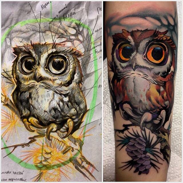 97 best Owl Tattoos images on Pinterest