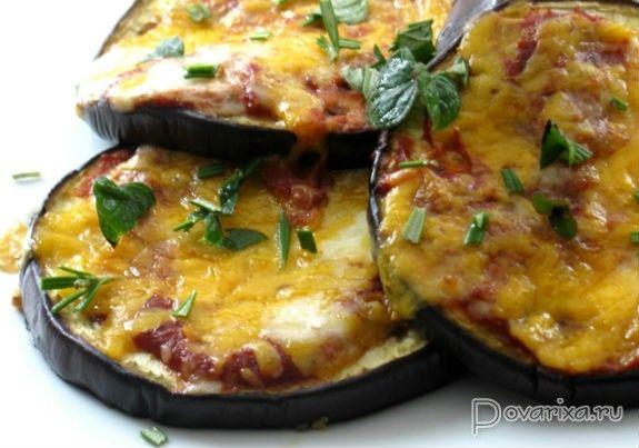 Баклажаны с курицей, запеченные под сыром - рецепт