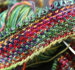 ..beautiful stitch: Even number of stitches. Row 1: *Knit 1, slip 1 with yarn in front. Repeat from * across, ending with a knit 1. Row 2: *Purl 1, slip 1 with yarn in back. Repeat from * across, ending with a purl 1. Repeat these two rows for pattern. When slipping stitches, always slip as if to purl.