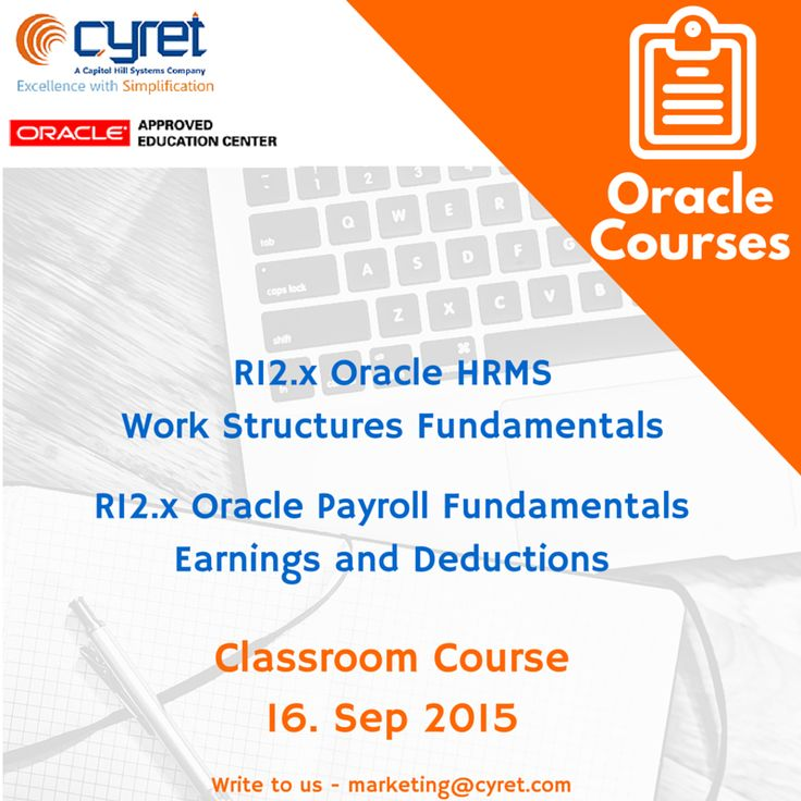 Oracle Hrms And Payroll Courses Starting 16th Sept 2015 Visit Cyret Com Training Corporate Training Education Center Hrms