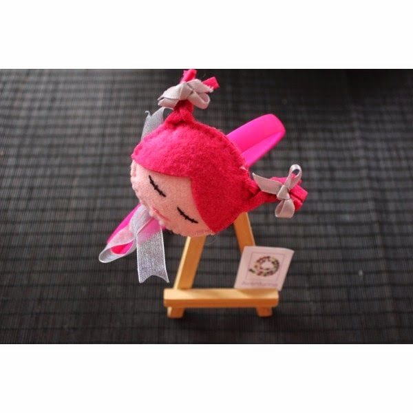 La Sombrerera Mágica: Diademas con fieltro para niñas