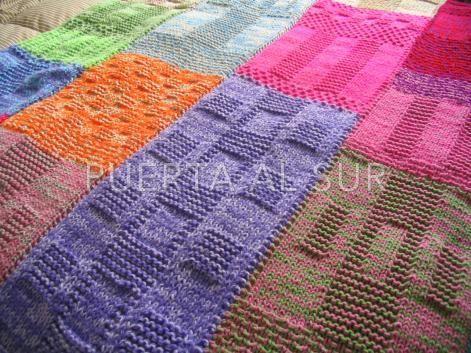 Manta de lana tejido a dos agujas tejidos pinterest - Mantas de crochet paso a paso ...