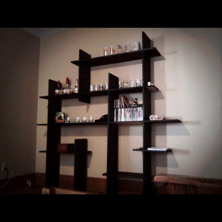 Interlocking boards clean line shelf design