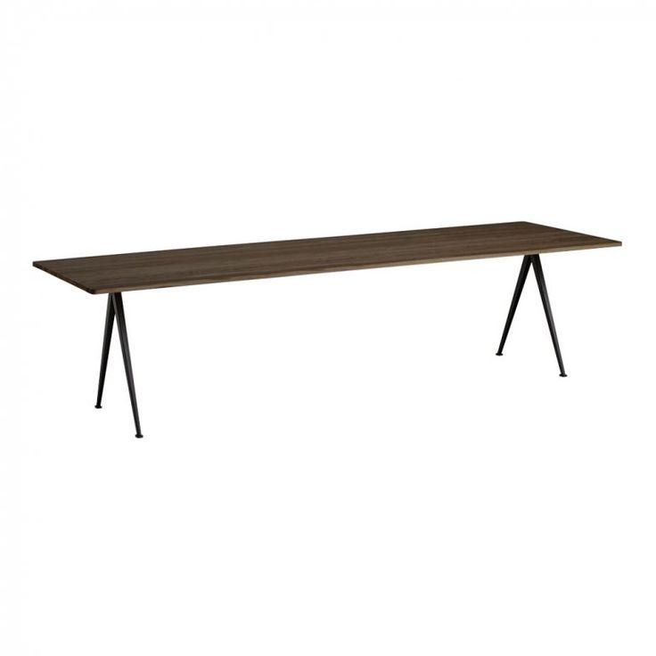 Pyramid Table 02 300x85 cm Svart/Rökt Oljad Ek Matbord | HAY | Länna Möbler | Handla online