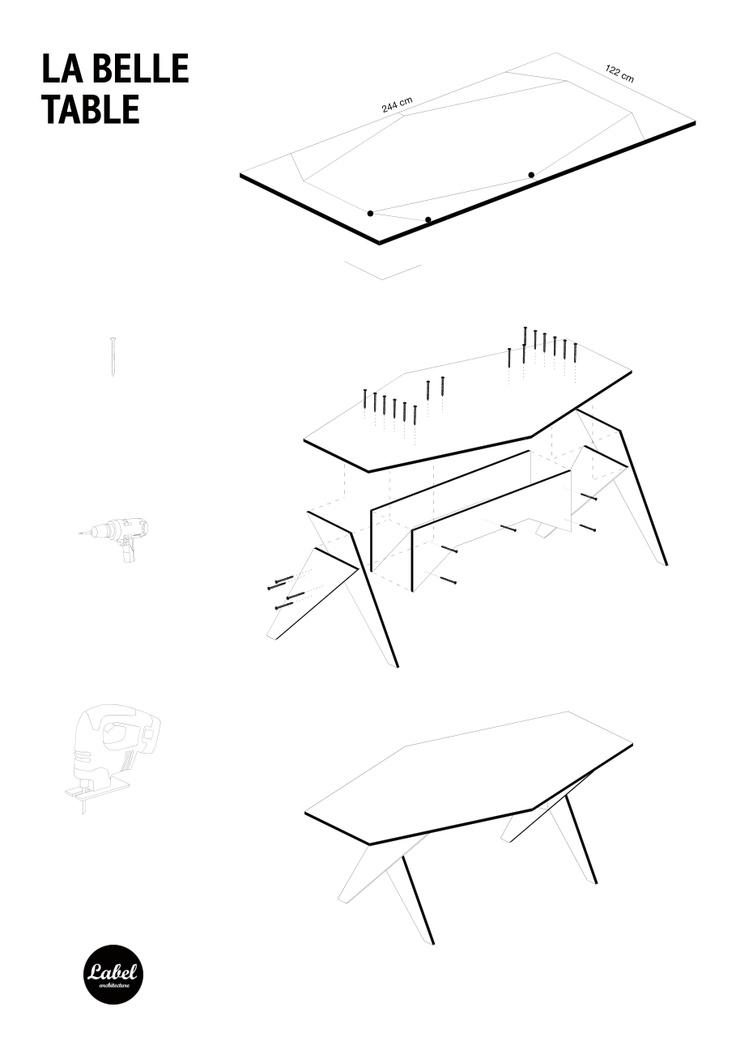 DIY one board plywood table