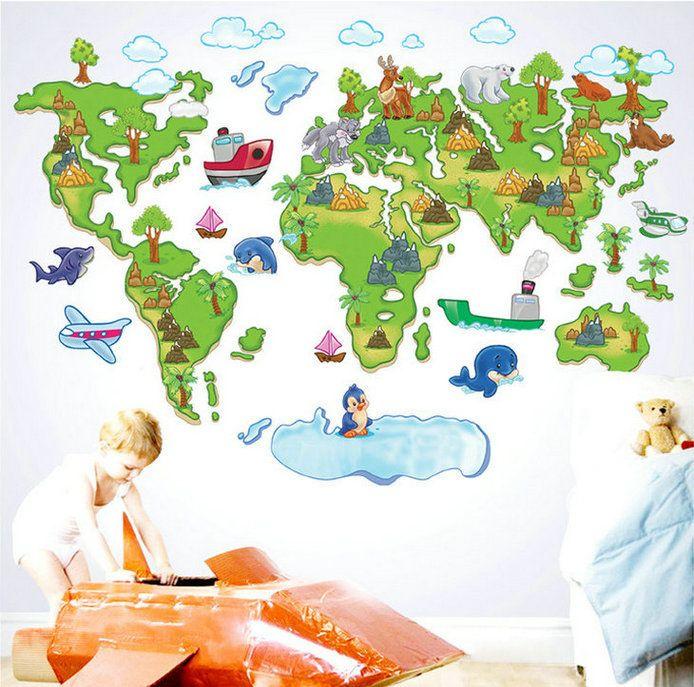 Cute g nstig direkt vom chinesischen Anbieter kaufen diy Kinderzimmer dekoration abnehmbaren aufkleber bunten cartoon