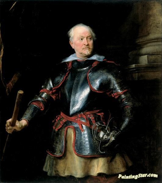 Portrait of a a man in armor Artwork by Anthony van Dyck Hand-painted and Art Prints on canvas for sale,you can custom the size and frame