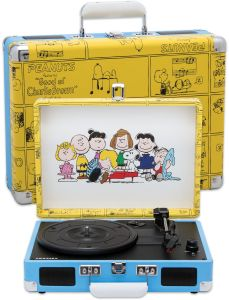 Our Exclusive Portable Peanuts Record Player Puts Your Memories To Music