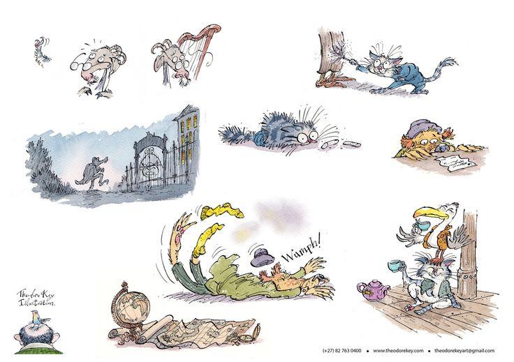 Theodore Key. Book Illustrations
