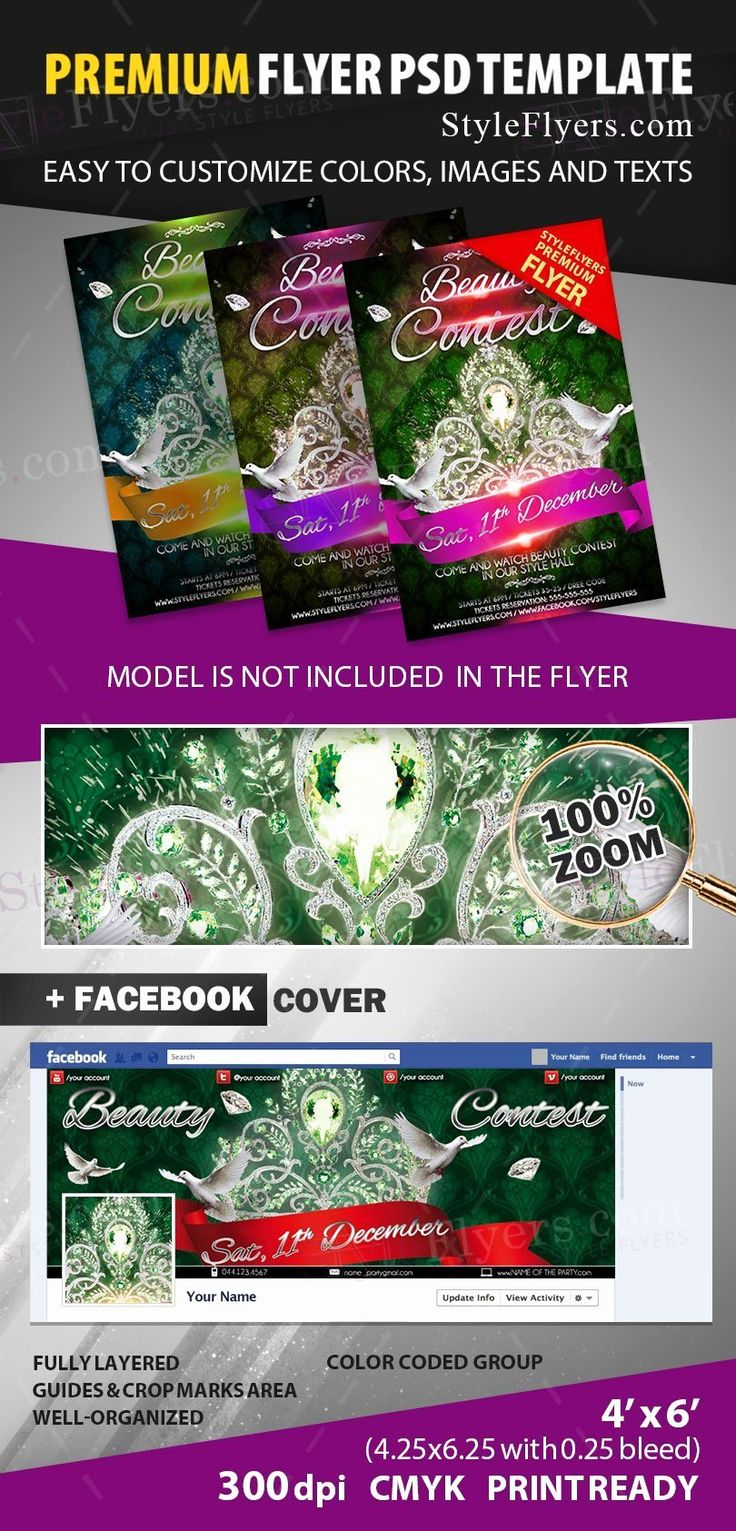 Contest Flyer Template Free Lovely Beauty Contest Psd