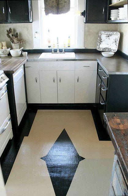 painted linoleum kitchen