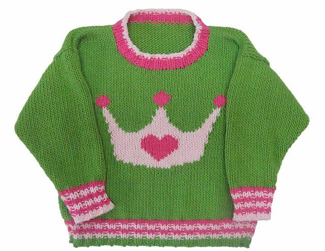 Crown Crewneck-Muster von Gail Pfeifle, Roo Designs