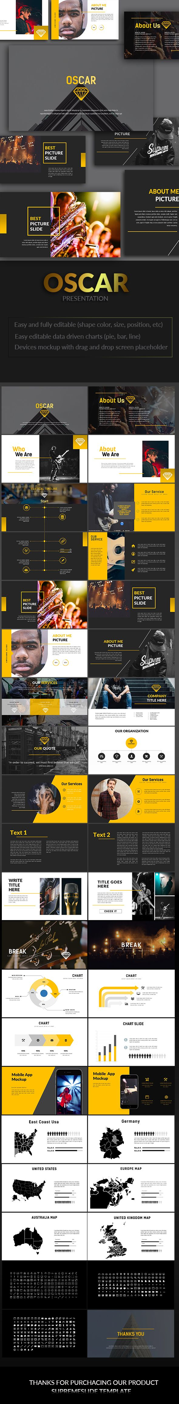 Oscar Powerpoint Template 7 best Presentations images