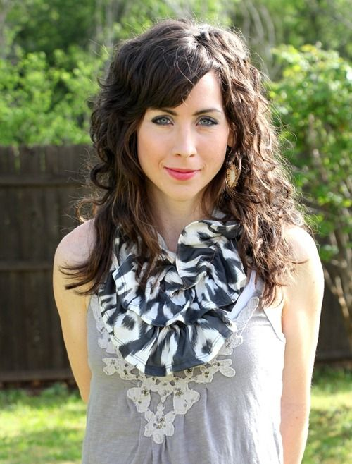 curly hair with bangs! if my hair is curly i want it to look like this