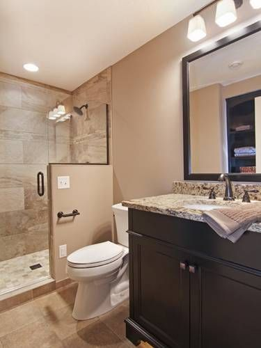 25 best ideas about basement bathroom on pinterest for Finished bathroom ideas