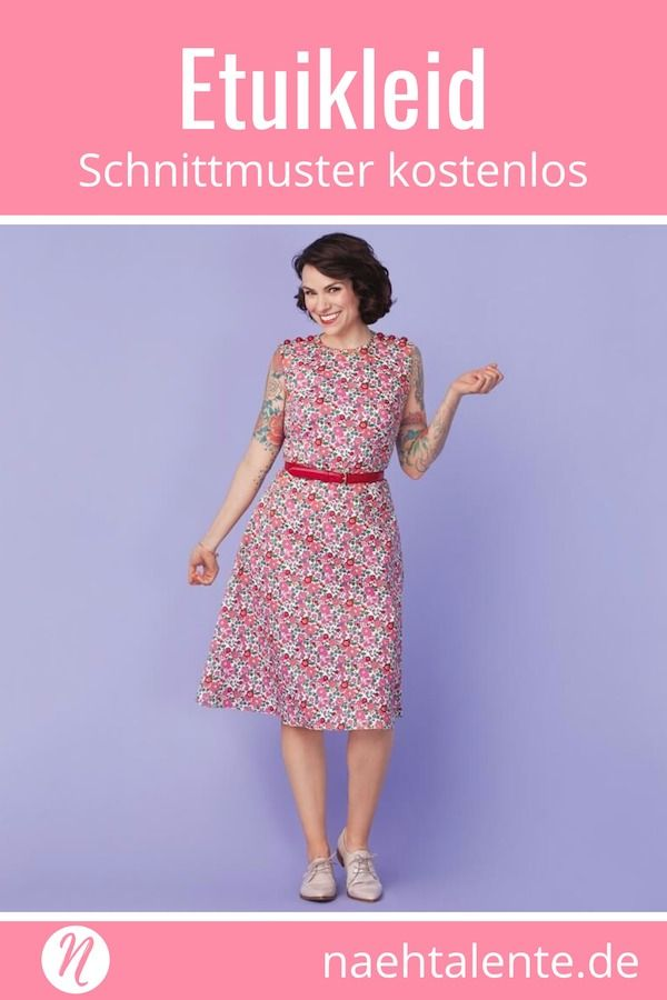 Etuikleid für Damen – Freebook Gr. 36 – 50 von Gretchen Hirsch