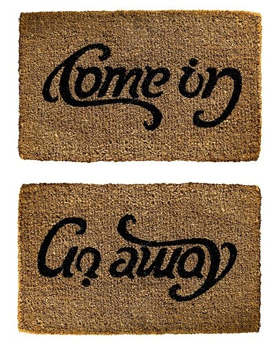 Welcome Mat Or Goodbye For The Home Pinterest