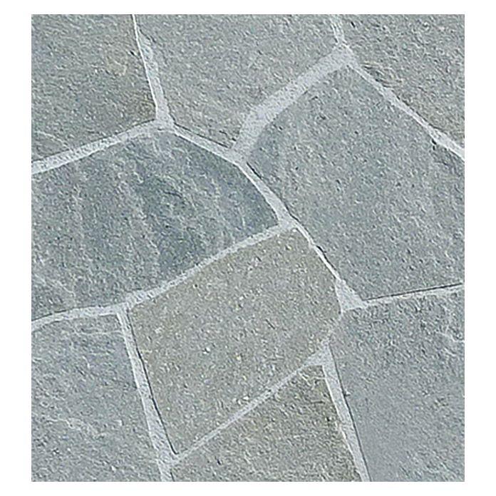 Polygonalplatte (Silber, Stärke: 10   20 Mm, Quarzit, 10 M²)