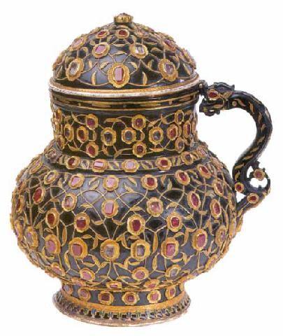 The Art Of Jewelry In The Ottoman Court, Jewelled Hardstone Jug, Topkapi Museum