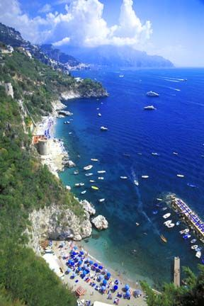 Photo of the Amalfi Coast, Italy  : Costiera Amalfitana ~~ One of the most beautiful places in Italy is the stretch of coastline on the southern coast of the Sorrentine Peninsula in the Province of Salerno in Southern Italy. Every direction has an amazing view to cast your eyes and camera clicks on.