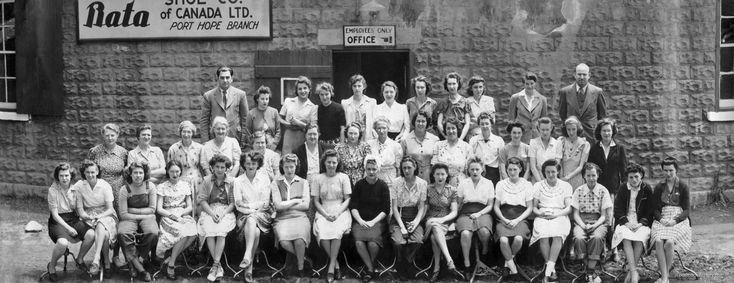 Workers of the Bata Shoe Co. of Canada Ltd. -  103 John Street factory in Port Hope, 1946