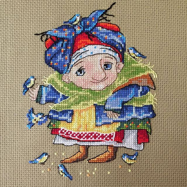 The Blue Titmouse, merejka, cross stitch kit