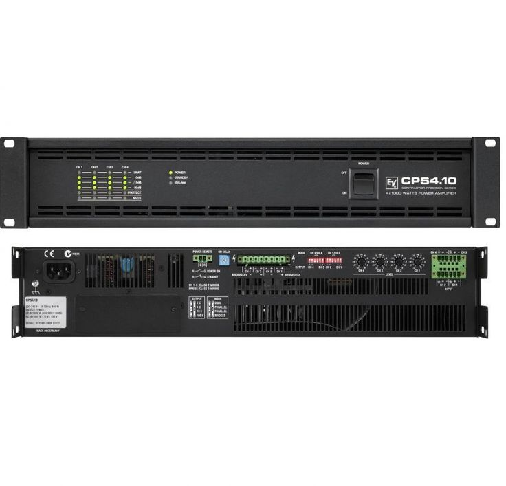 ELECTROVOICE CPS4.10  pa 1000wats x 4 a 8 ohm