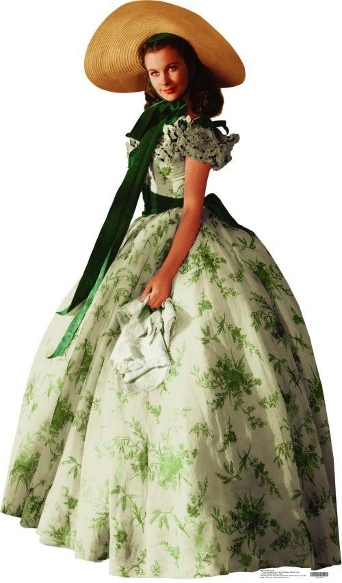 O vestido verde usado Vivien Leigh no filme E O Vento Levou... (Gone With Wind, 1939