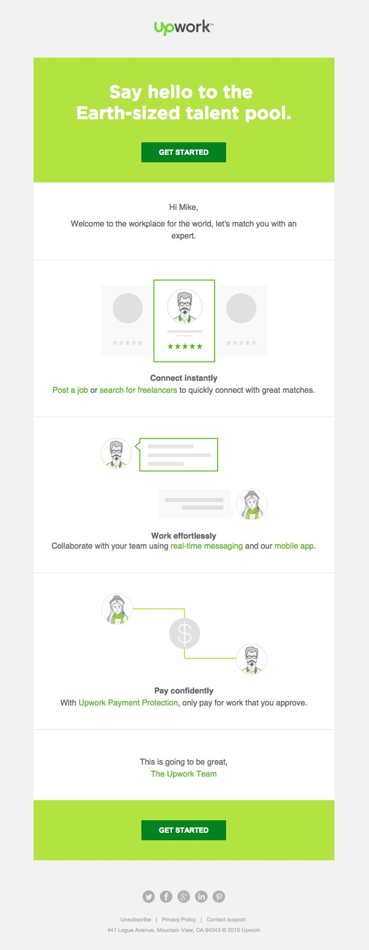 Customer Registration Form Template] Upwork Sent This Email With The ...