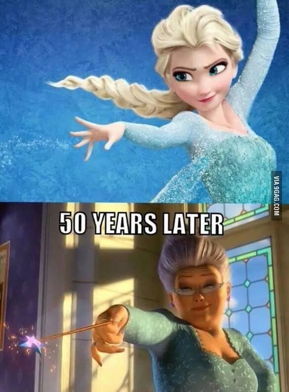 A lot happened in 50 years... #frozen lol