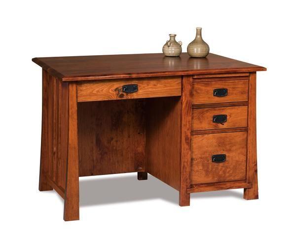 Amish 47 Grant Computer Desk In 2020 Wood Desk Design Computer Desk Wood Desk