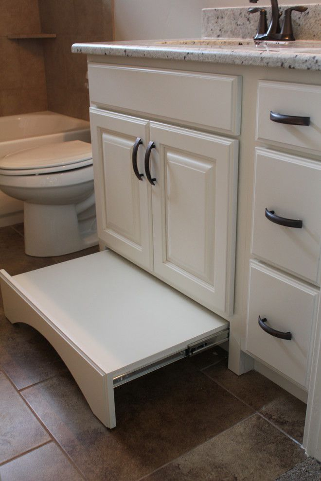 Gorgeous toddler step stool in Bathroom Craftsman with Step Stool ...