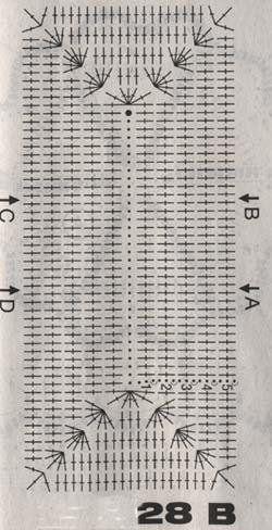 White Crochet Bag - Diagram 1