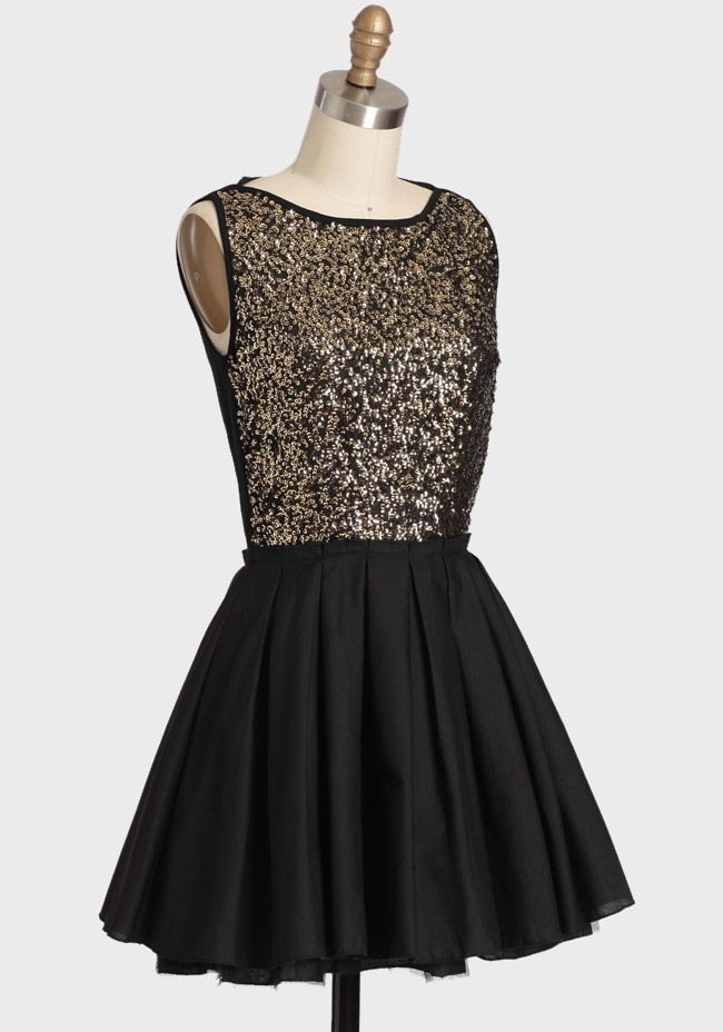 Midnight kiss sequined dress modern vintage dresses