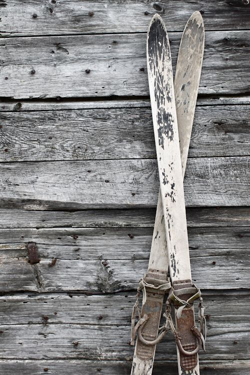 Vintage skis- follow us www.helmetbandits.com like it, love it, pin it, share it!