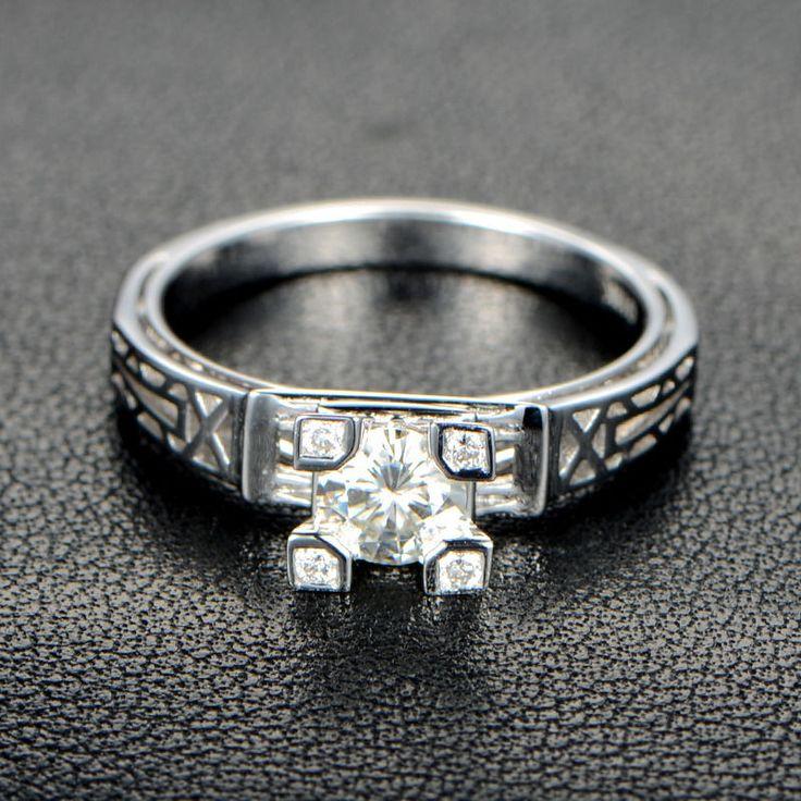 The 25 best Diamond vs moissanite ideas on Pinterest