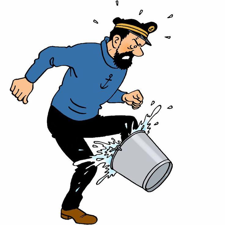 Capitaine Haddock : les pieds dans l'eau