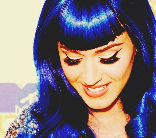 Katy Perry: Girls Crushes, Hair Colors, Makeup Tools, Makeup Collection, Blue Hair, Katy Perry, Beautiful People, Electric Blue, Cartoon Character